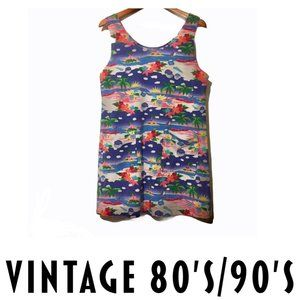 END OF SUMMER☀️VTG 80s/90s Tropical Beach Coverup